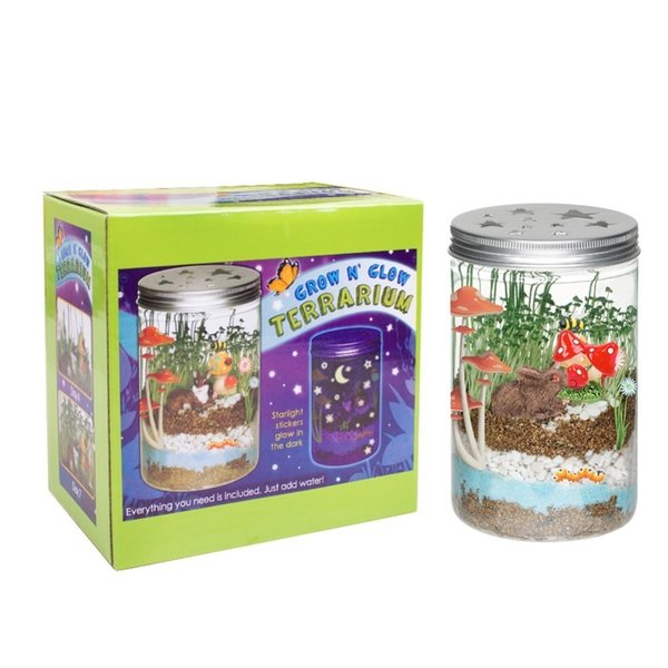For Kids Diy Grow 'n Glow Terrarium - Science Kit For Kids , Creative Gift Toys , Year-round Fun Educational Science Activities J190521