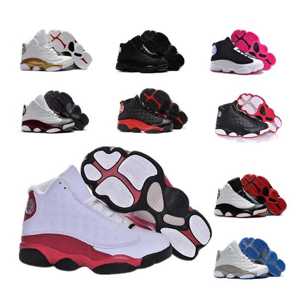 Новый 2019 Новый баскетбол обувь Дети Детские J13s он получил игру высокое качество спортивная обувь 13 Горизонт 13s молодежь мальчики девочки баскетбол кроссовки