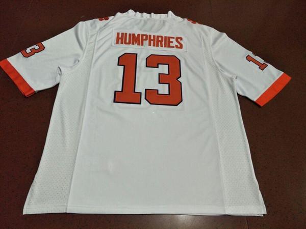 Hommes Clemson Tigers # 13 - Adam Humphries - Maillot orange blanc - Collège ou personnalisé - Maillot avec un nom ou un numéro