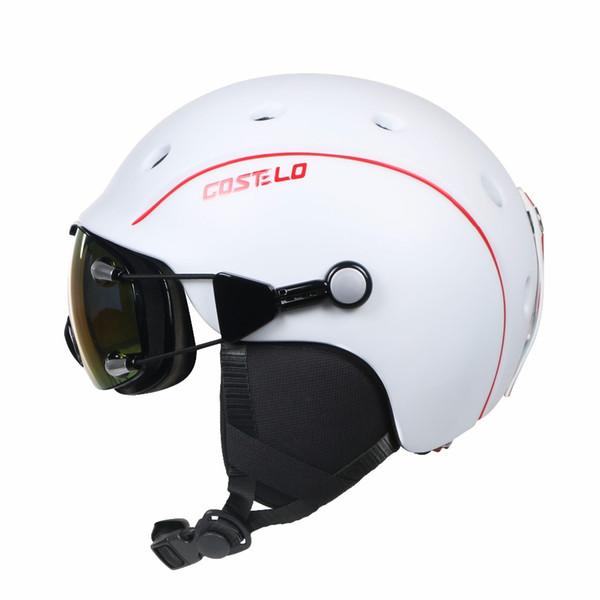 Unisex Costelo Airwolf Skateboard Ski Snowboard Helmet ski goggles Integrally-molded Ultralight Breathable Ski Helmet