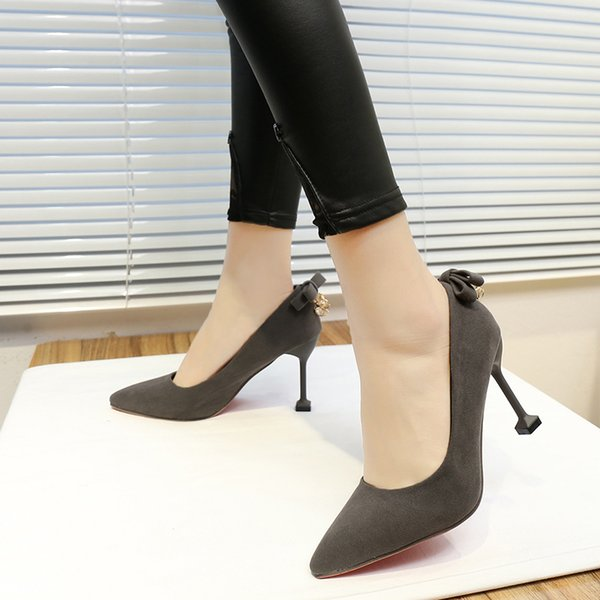 Designer Dress Shoes 2019 Women High Heels Female Party Wedding Lady Heels Leather Pointed Toe Pumps White Black Pink Red Apricot