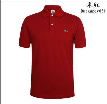 Toptan yaz Fransız timsah polo gömlekleri 100% pamuk t-shirt erkek kısa kollu casual erkek polo s-3xl