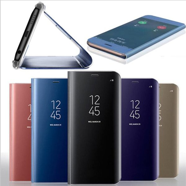 Clear View Smart Mirror Phone Case For Samsung Galaxy S9 S8 S7 S6 Edge Plus Note 8 9 A5 A7 A8 For iPhone xsmax Case