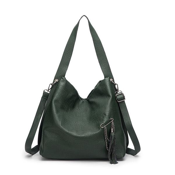 Sacchetto femminile 2019 nuove borse Europa e in America del sacchetto della nappa grande spalla di capienza Messenger bag