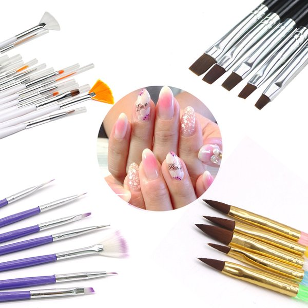 Professional Manicure Nail Brush Nail Art DIY Painting Dotting Acrylic Drawing Brush Pen Polish Art Decoration Tools