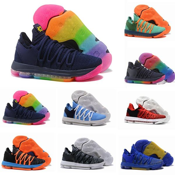 New Zoom KD 10 Anniversary University Red Still Kd Igloo BETRUE Oreo Men Basketball Shoes Kevin Durant Elite KD10 Sport Sneakers Shoes KDX
