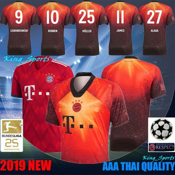 pretty nice 47391 d5a5b 2019 Bayern Munich AAA Thai Quality 18 19 Top FC Bayern EA Sports Jersey 25  Muller Jerseys 11 James Jersey 27 Alaba Jersey 1 Neuer Jerseys From ...