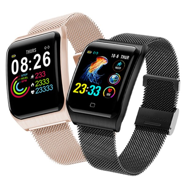 Pedometer Watch Heart Rate Monitor Sleep Tracking Waterproof Clock Multi-language Multi-function Sports Mode For Android IOS