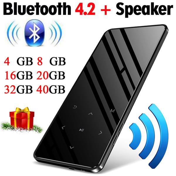 MP3 Player with bluetooth Speaker touch screen hi fi fm radio mini USB mp3 sport MP 3 HiFi music player portable metal walkman