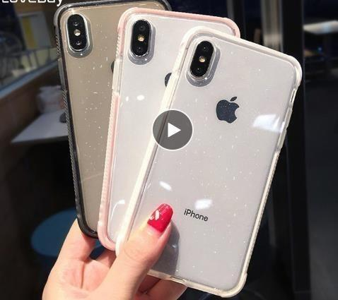 Phone Case For Iphone 6 6s 7 8 Plus X Xr Xs Max Luxury Glitter Powder Transparent Soft Tpu Shockproof For Iphone X Cover