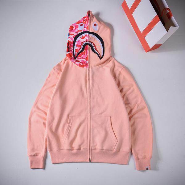 BAPE Designer Fashion Herren Damen Designer Hoodies Jacke Fashion Brand Herren High Quality Hooded Outerwear Pink Blue Green