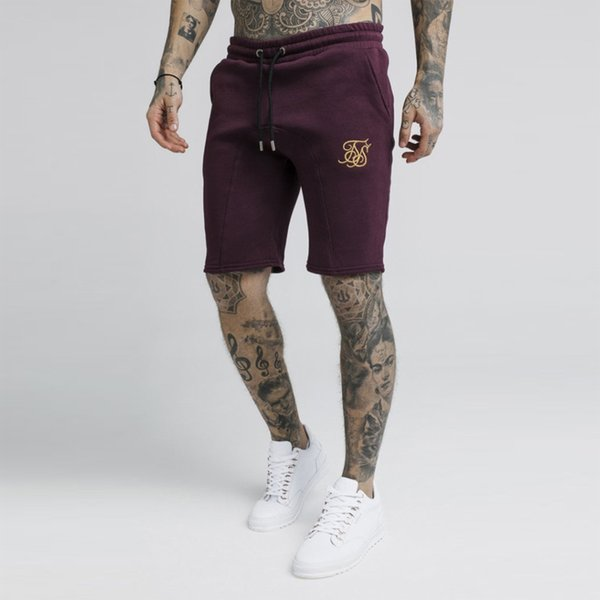 New Summer Sik Silk Men Short Gyms slim fit Bodybuilding Fashion Joggers Sweatpants Men Fitness Shorts Sportswear