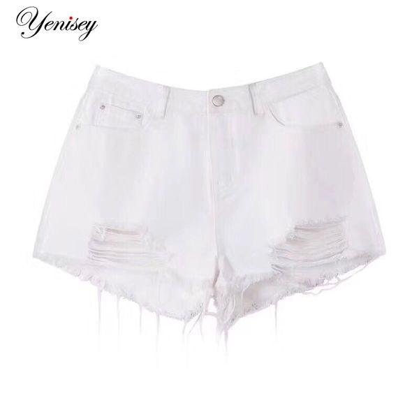 d32f07e272dee Shorts Jeans for Women Summer Fashion Ladies Sexy Mini Short Femme Tassel  Hole Denim Shorts