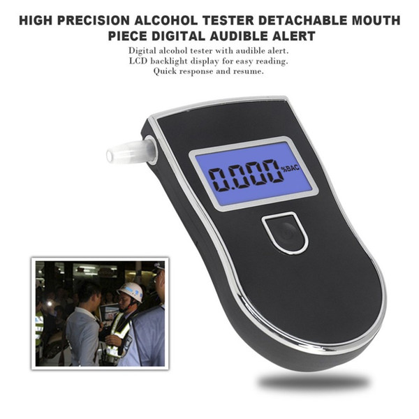 Professional alcohol tester Digital Breathalyzer LCD Display breath analyzer Portable alcohol detector Drive Safety car