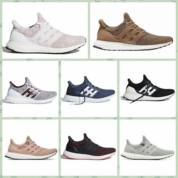 AUA04A Ultra Erkek Koşu Ayakkabı Ultra4.0 Orca Şeker Kamışı Kül Şeftali Üçlü Beyaz Siyah Bordo Stripesinizi Göstermek Spor Sneakers 36-45