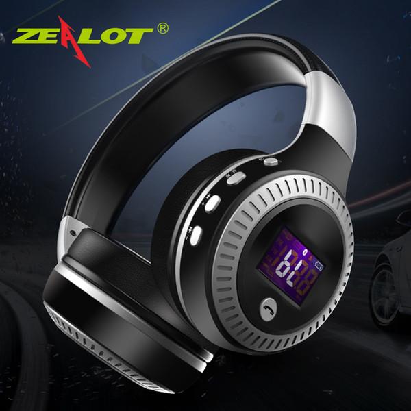 ZEALOT B19 Bluetooth Наушники Беспроводные Стерео Наушники Наушники с Микрофонными Гарнитурами Слот Micro-SD Card FM Радио Для Телефона ПК