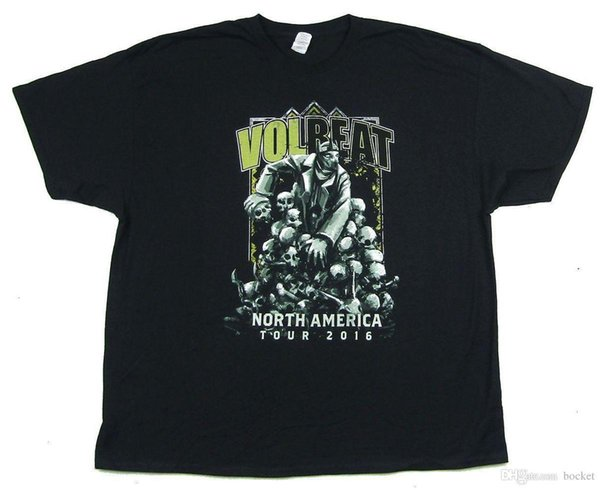 Volbeat Skulls Tour 2016 North America Black T Shirt New Official Band Merch