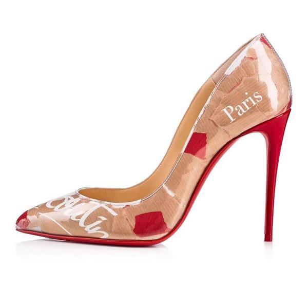Kırmızı alt Topuk ayakkabı Mix 20 modelleri Düğün ayakkabı Kadınlar Sivri Burun Yüksek Topuklu Çivili Strappy Slingback Stilettos Deri Sandalet Pompalar
