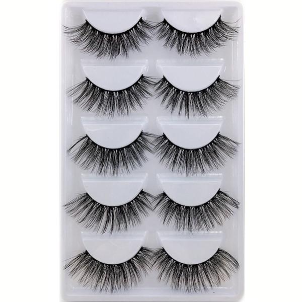 H serie 20 stil 5 paare / satz 3D nerz Falsche Wimpern 5 Paare 3D Natürliche Lange Gefälschte Wimpern H18