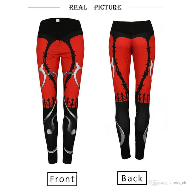 various styles sale uk wholesale outlet 2019 Women Red Elastic Sports Pants Fitness Compression Leggings Running  Gym Trousers Sportware Yoga Long Pant Sport Tight Bottoming Pant From ...