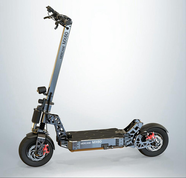 Mercane MX60, 2400W (5400W), 60V 10 / 20AH, pneumatici tubolari da 11 pollici, batteria rimovibile ad alta capacità, doppio freno a doppio effetto per scooter