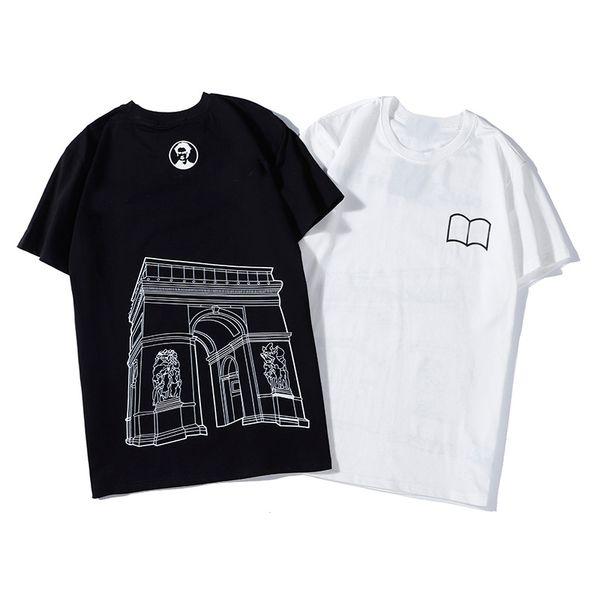 Горячие продаж хлопка новых людей лета Тис Плюс Размер рубашка с коротким рукавом Футболка Ситца футболки мужчин дизайнер одежды S-2XL Мода тройников