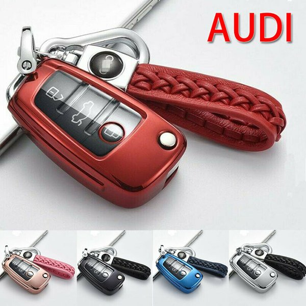 TPU Remote Key Cover Fob Case With Keychain Set For A1 A4 A3 A6 A7 A8 Q3 Q5