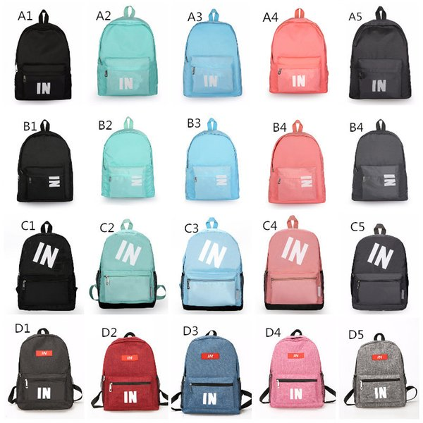Stock Pink Black Backpack 25 Design Casual Backpacks Teenager Student Schoolbag Travel Bags Knapsack 16x11x14 Inch Fast Shipping