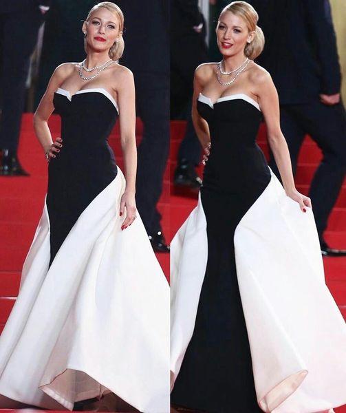 2020 eleganti abiti da sera neri con treno staccabile Sweetheart sirena abito da ballo su misura abiti da tappeto rosso in raso abiti da cerimonia formale