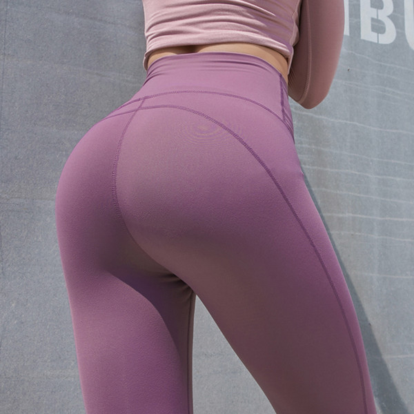 Unique Design Sexy Pink Yoga Pants Seamless High Waist Athletic Sport Leggings Olive Workout Jogging Pants For Women
