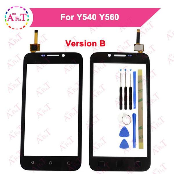 Pour Huawei Y5 Y540 Y560 Y541 Y541-U02 Y560-L01 Écran Tactile Panneau De Verre Digitizer Capteur Avant Panneau De Verre Livraison Gratuite