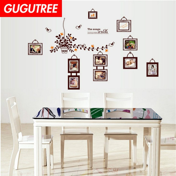 Decorate Home leaf photo cartoon art wall sticker decoration Decals mural painting Removable Decor Wallpaper G-1841