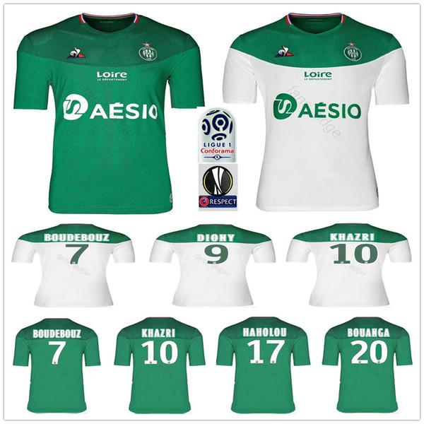 2019 2020 AS ASSE Etienne Soccer Jerseys KHAZRI DIONY BOUDEBOUZ CABELLA BERIC NORDIN BOUANGA HAMOUMA Custom ASSE Etienne Football Shirt