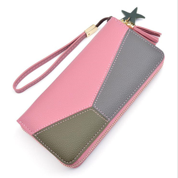 Purse Bow Wallet Female Famous Brand Card Holders Cellphone Pocket Pu Leather Women Money Bag Clutch Women Wallet Qq008