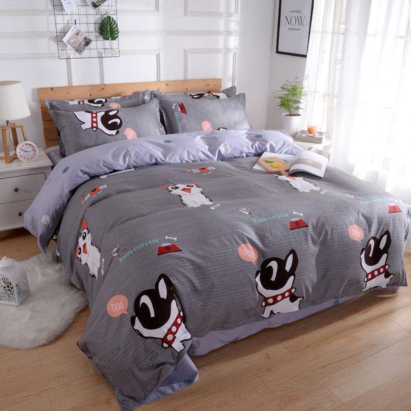 Insiemi dell'assestamento di lusso in microfibra traspirante hotel morbida rughe libero misura Comporters Bed Completi per bambini a due letti queen re