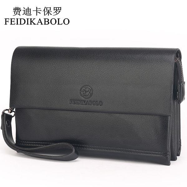 Feidikabolo Famous Brand Men Wallets Male Leather Purse Men's Clutch Wallets Carteiras Billeteras Mujer Clutch Man Handy Bags Y19052104