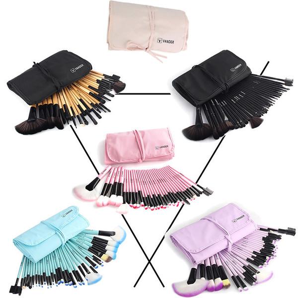 Vander 32Pcs Makeup Brushes Eye Shadows Lipstick Powder Foundation Brushes With Cosmetic Bag pincel Make Up Brushes Kits C18112601