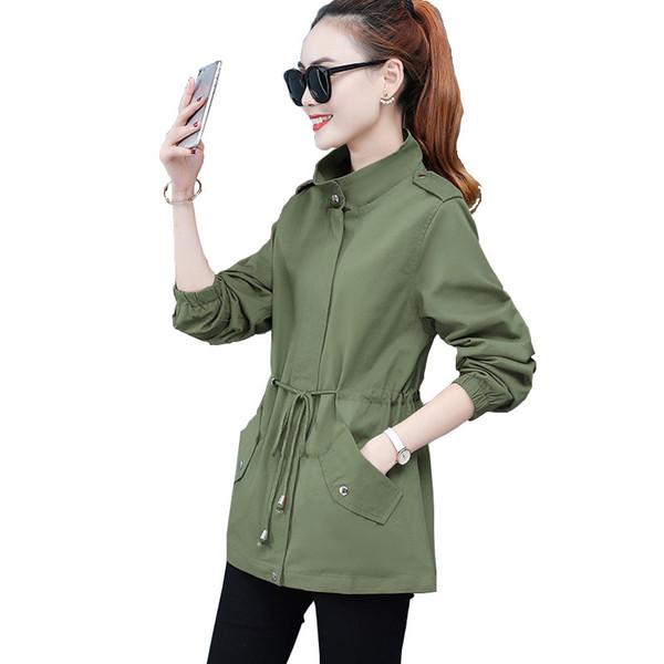 Giacca di alta qualità coreano signore delle donne Coat Plus Size lunghe maniche Parka Cappotti Cappotti casual e giacche da donna Abbigliamento