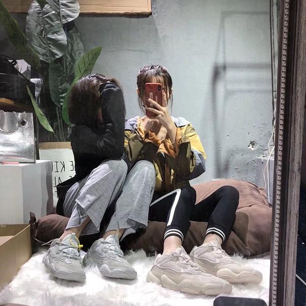 Çöl Sıçan 500 Koşu ünlü markalar Ayakkabı Ay Sarı Siyah Allık 2019 Tasarımcı Mens Womens Sneakers Eğitmenler Inek Deri 3 M Yansıtıcı L7