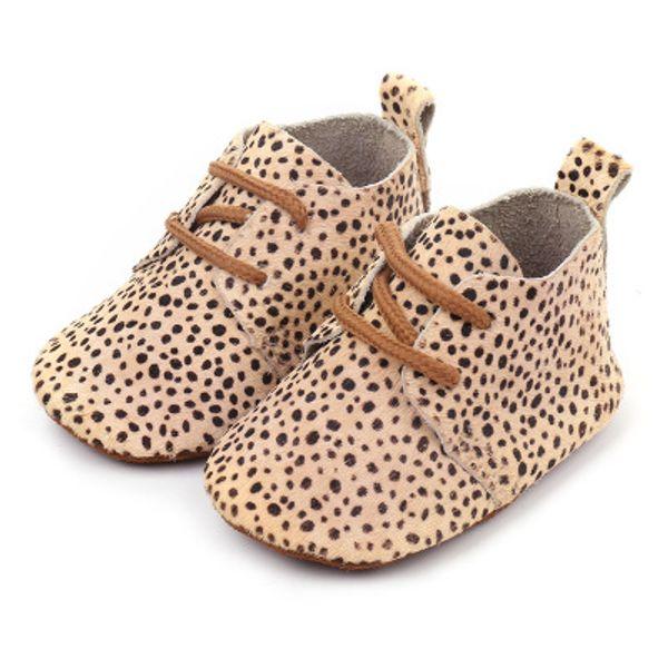 Newborn Girls Boys Scarpe da bambino in vera pelle Camouflage Stampa leopardo Morbide scarpe Crine di cavallo Primi camminatori Mocassini da bambino