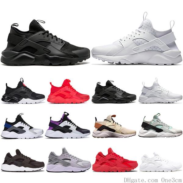 Ücretsiz Kargo Huarache 4.0 Koşu Ayakkabıları Erkek Kadın Haki Nane Yeşil Balck Beyaz Kırmızı Erkek Spor Atletik Tasarımcı Sneakers Eğitmenler 36-45