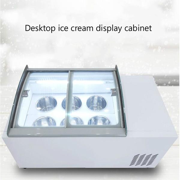 top popular Desktop ice cream display cabinet commercial freezer for cold drinks shop store supermarket ice cream display cabinet 2020