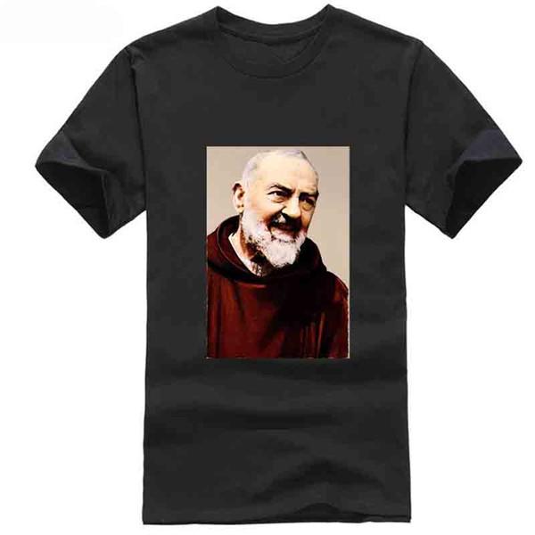 T-shirt Padre Pio Khaki Tutte le taglie S 5Xl T-shirt classica vintage retrò Abito Cappello T-shirt rosa Bianco Nero Grigio Rosso Pantaloni