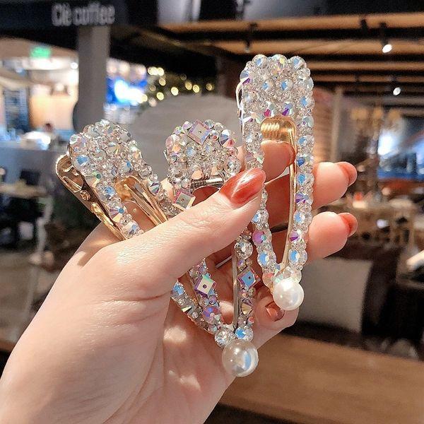 Moda 1 UNID Crystal Hairpins Big Hair Clip para Mujeres Niñas Rhinestones Headwear Pins Barrette Accesorios Para el Cabello