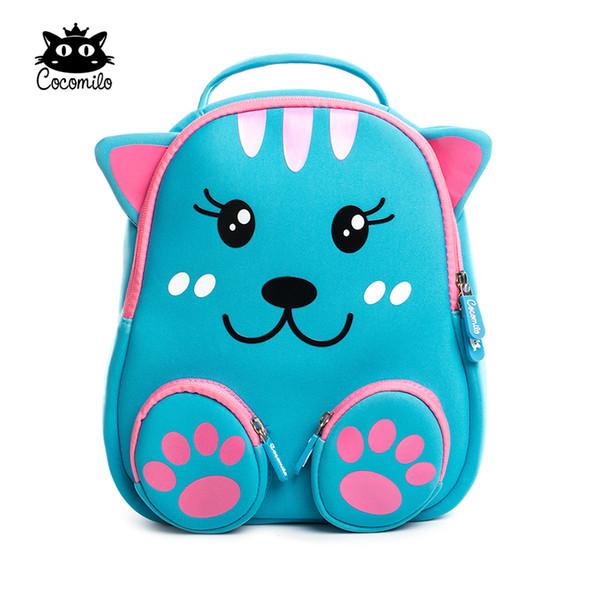 Cocomilo Little bear pattern Kids School Bag 3D Cartoon soft Backpack Cat Small Kindergarten Toddler Baby bag for kids 2-6 Years