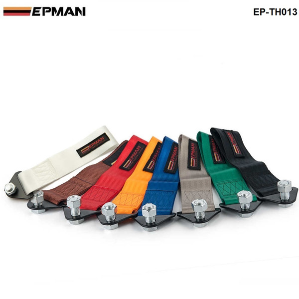 EPMAN - HIGH STRENGTH RACING TOW STRAP SET FOR FRONT/REAR BUMPER HOOK TRUCK/SUV TOWING ROPE EP-TH013