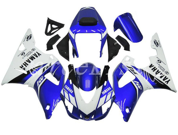 New ABS motorcycle bike Fairing Kits Fit For YAMAHA YZF-R1 98 99 YZF1000 1998 1999 R1 fairings bodywork set custom cool blue white