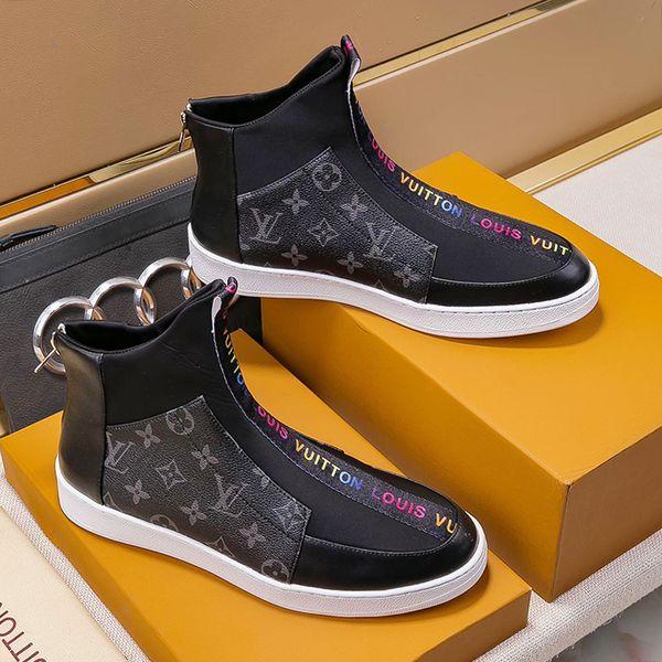 Mens Leather Ankle Boots Autumn Winter Dress Shoes For Men Zipper Motorcycle Boots Plus Size 38~45 Luxury Bottes Chaussures pour hommes Mens