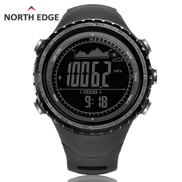 Erkek spor Dijital Saat Çalışan Saat Koşu Saatler Altimetre Barometre Pusula Termometre Hava Adımsayar Dijital İzle