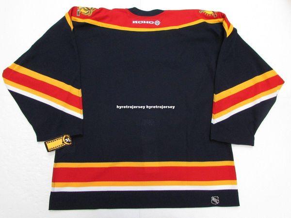 4effe0ec9ea Cheap custom FLORIDA PANTHERS KOHO NAVY HOCKEY JERSEY stitch add any number  any name Mens Hockey Jersey GOALIE CUT 5XL